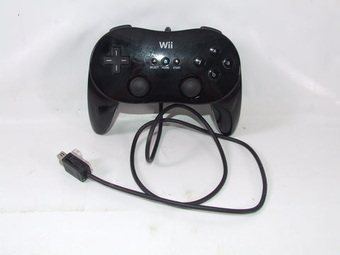 Nintendo Wii Official Classic Wired Pro Joypad Black