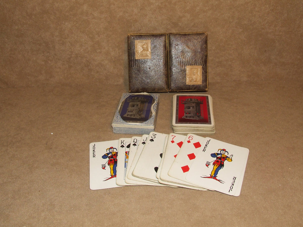 Waddingtons Twin Pack Playing Cards Henry Berry & Co Ltd One Pack Is Duty Sealed - Vintage Retro And Vinyl - 1