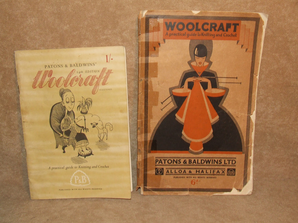 Patons & Bladwins Woolcraft Books x 2 Practical Guide to knitting Plus New Ed - Vintage Retro And Vinyl - 1