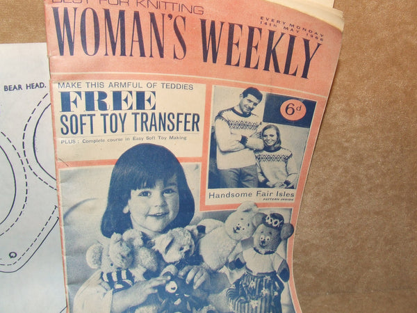 Womans Weekly Magazine Vintage May 1966 Including Soft Toy Transfer - Vintage Retro And Vinyl - 1