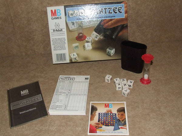 Word Yahtzee - MB Games - Very Good Condition - Boxed & Complete - 1979 - Vintage Retro And Vinyl - 1