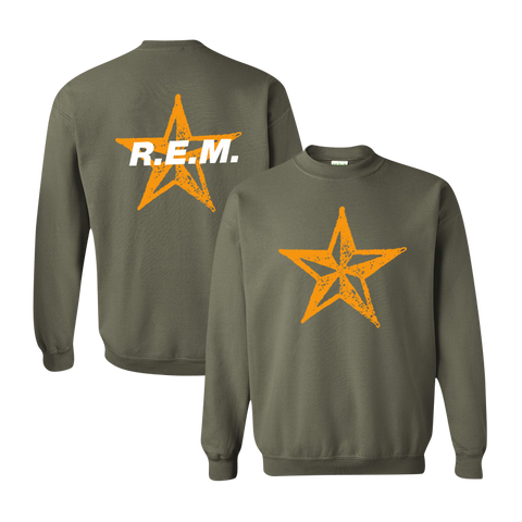 Star Throwback Crewneck Sweatshirt - R.E.M.  - 1