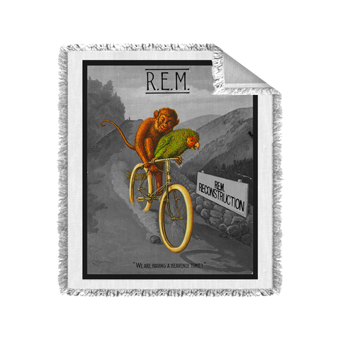 Monkey on a Bicycle Blanket (Black & White) - R.E.M.