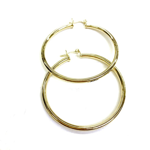 Crystals Huggies Earrings Hoops 18Kts of Gold Plated