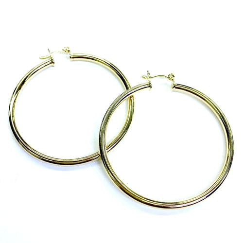 2'l3Mm Tubular Earrings Hoops