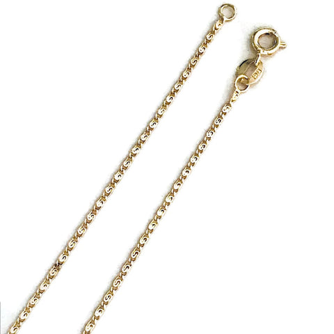 Figaro 3mm 18k Gold Plated Chain