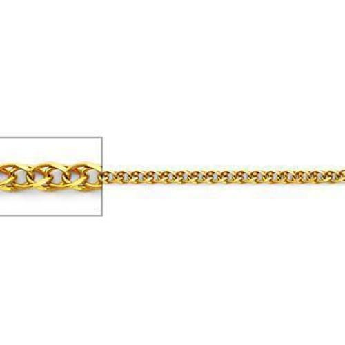 solid mm gold chains link wheat chain white mens spiga