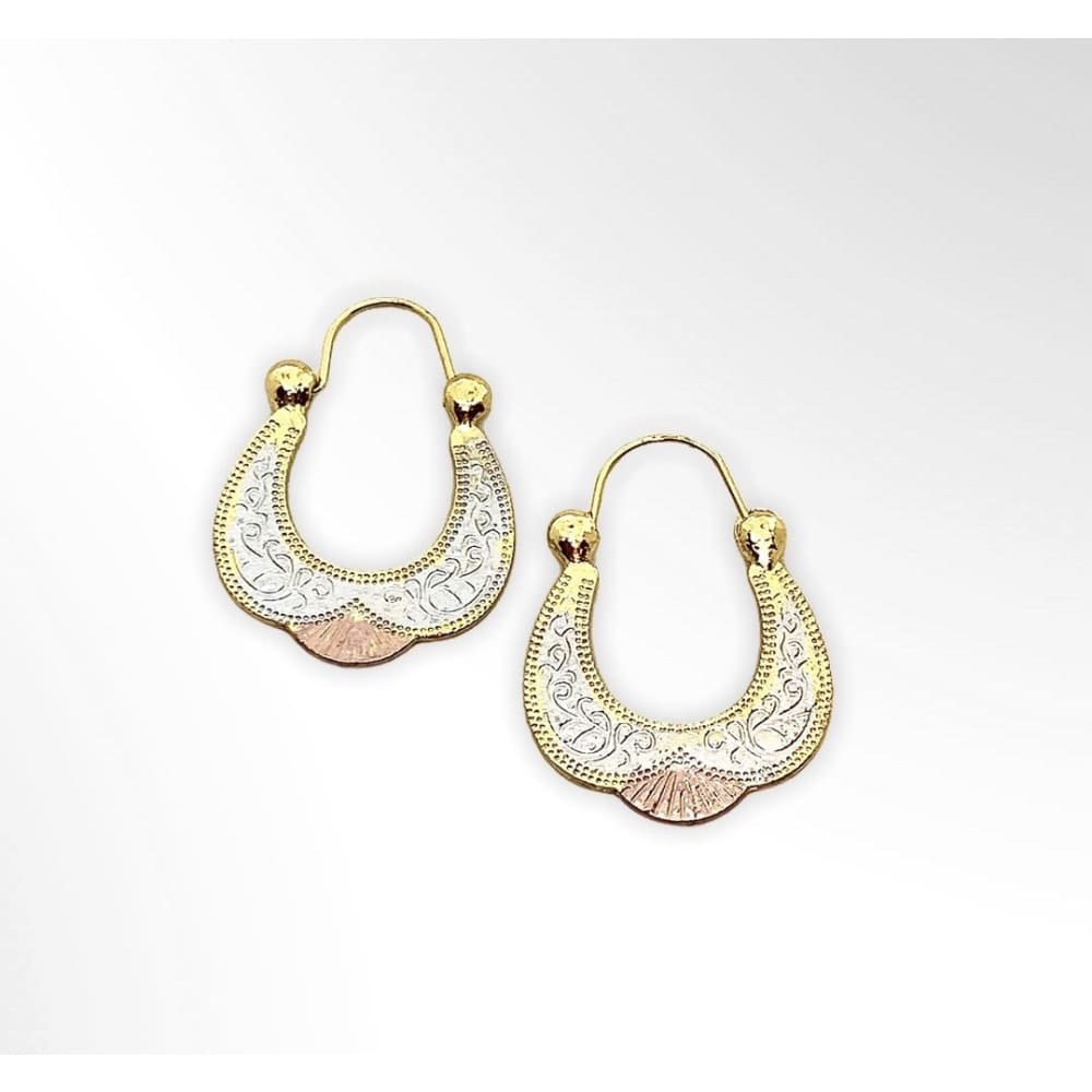 Africa Hoop earrings in 18kts of Gold Plated Earrings