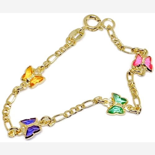 Butterfly 18kts of Gold Plated Bracelet Bracelets