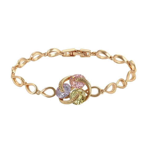Circle Multi Color Rose Gold - Filled