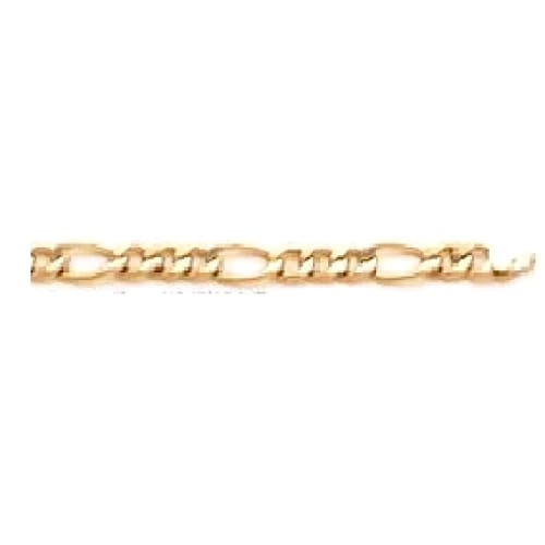 Concavo Figaro 6Mm 18K Gold Plated Chain Chains