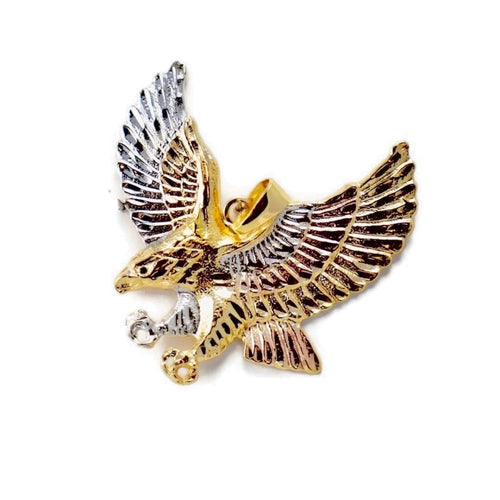 Eagle Tricolor Large Gold Plated Pendant Charms