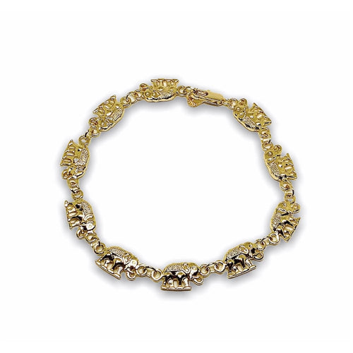 Elephant Diamond Cut Bracelet in 18kts of Gold Plated 7.5 Bracelets