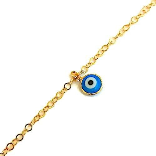 Evil Eye Charms Design Anklet 18Kts Of Gold Plated Anklet