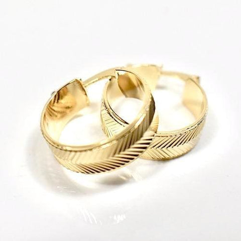 Endeless Hoop Earrings 18kts of Gold Plated