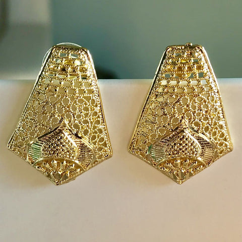 Personalized Gold Plated Earrings Studs.