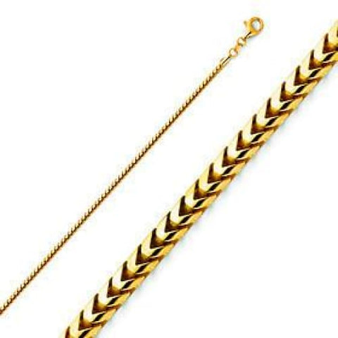 5mm  Concavo Figaro  18K Gold Plated Chain