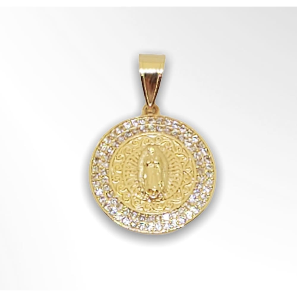Guadalupe Pendant in 18Kts of Gold Plated Charms