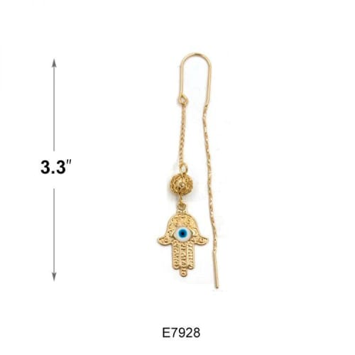 Hamsa hands Threaders Earrings 18K of Gold-Filled Earrings