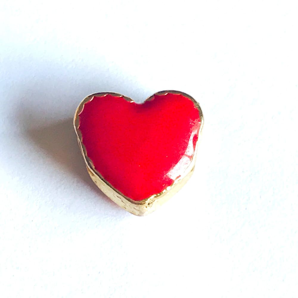 Heart European Bead Charm 18Kt Of Gold Plated Charms
