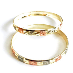 Indian Gold Plated Bangles Set Of 2 Bangles