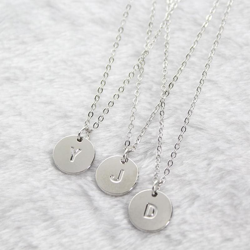 Initial Pendant Charm Necklace Chains