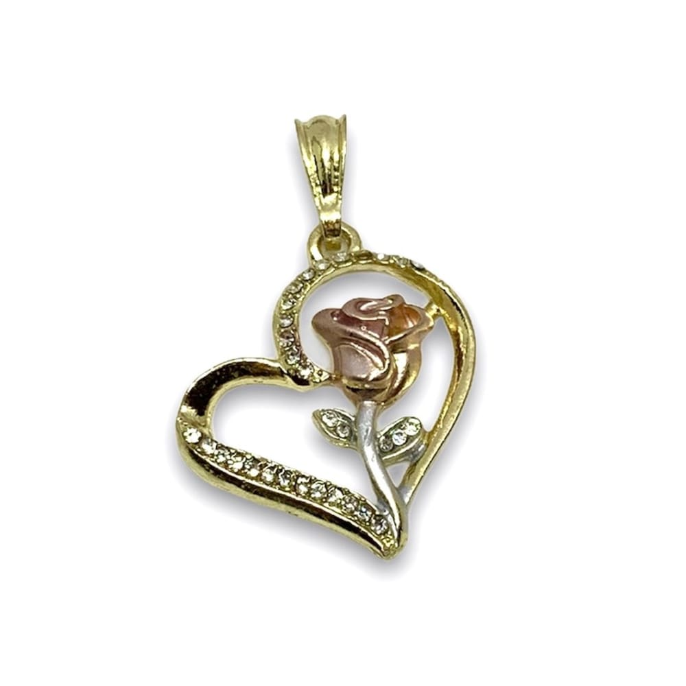 La Rosa Heart Pendant I 18kts of Gold Plated Charms