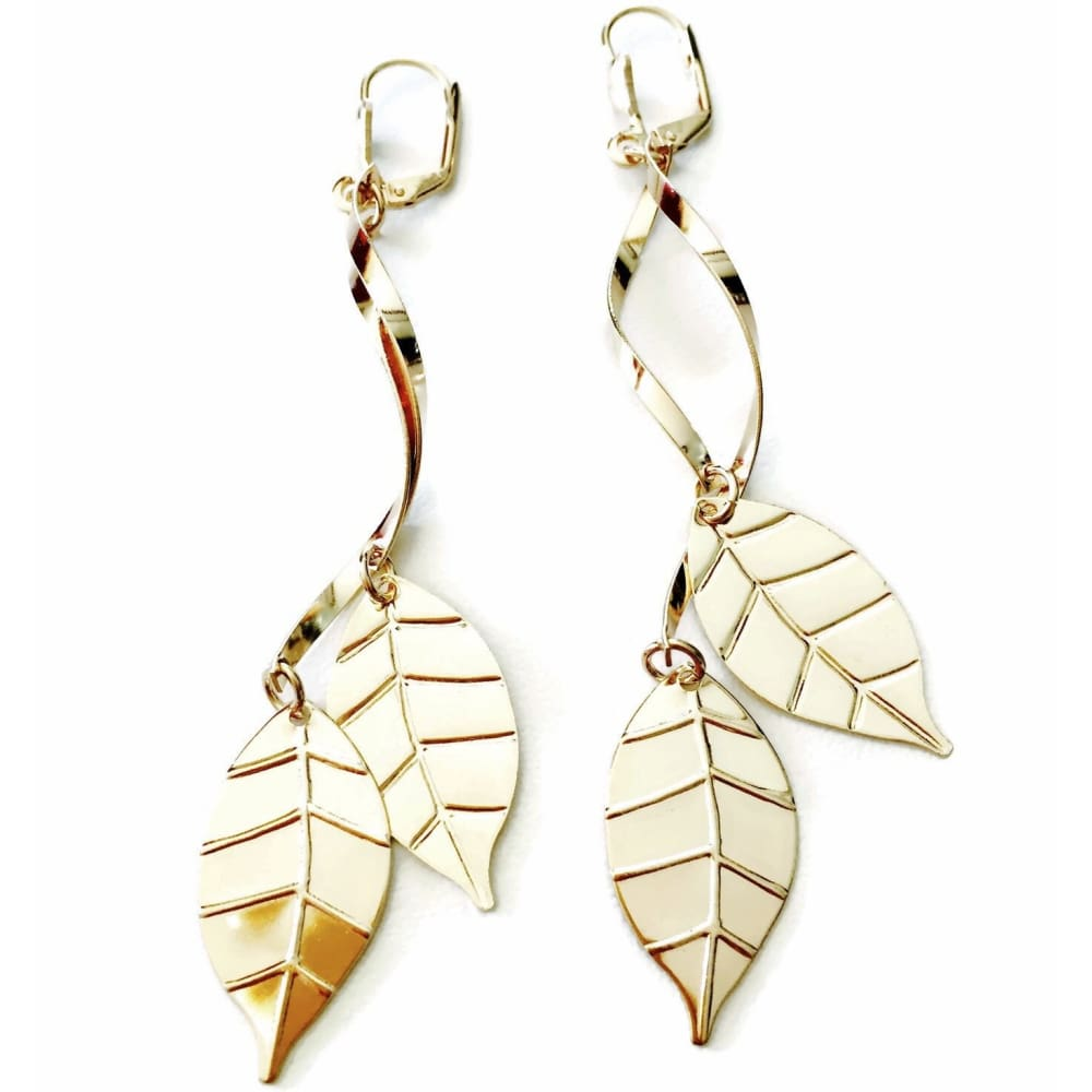 Leaf Earrings 18Kts Gold Plated