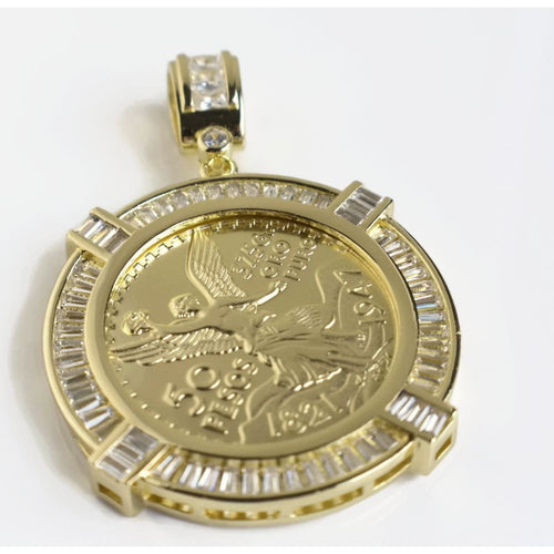 Lifesaver Cz 50 Pesos Angel Mexican 2 Centenario Charm Charms & Pendants