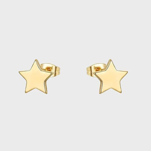 Little Stars Studs Gold Over Stainless Steel Earrings Earrings