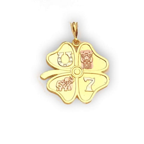 Lucky Clover Pendant in 18Kts Of Gold Plated