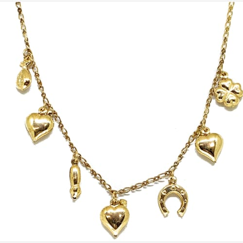 Lucky Necklace in 18k of Gold Plated Chains