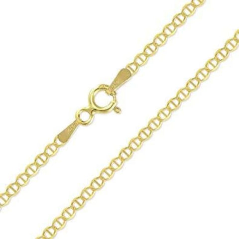 Figaro Curb 2mm 18k Gold Plated Chain
