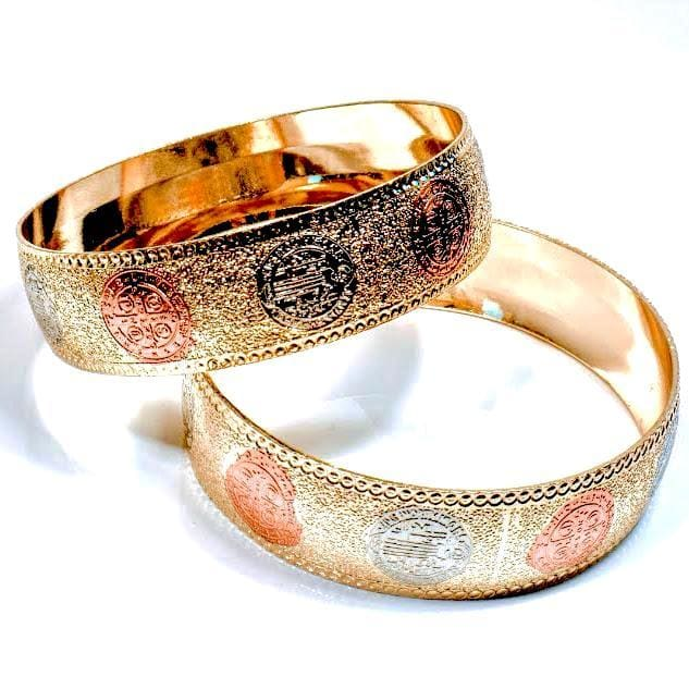 Saint Benedetto Goldfilled Indian Bangle Bracelets