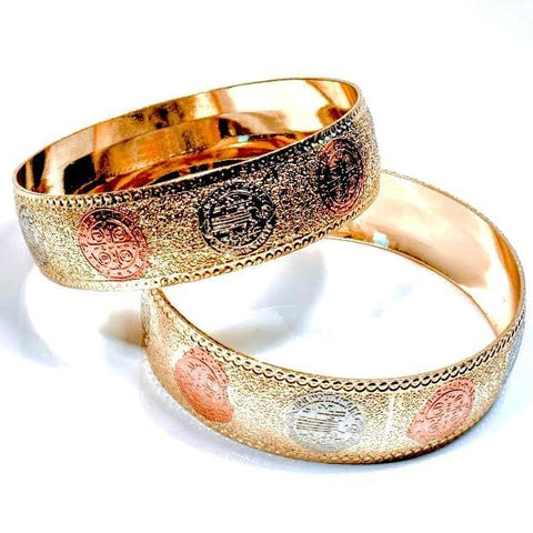 Triangular Tricolor Set Of 2 Indian Bangle