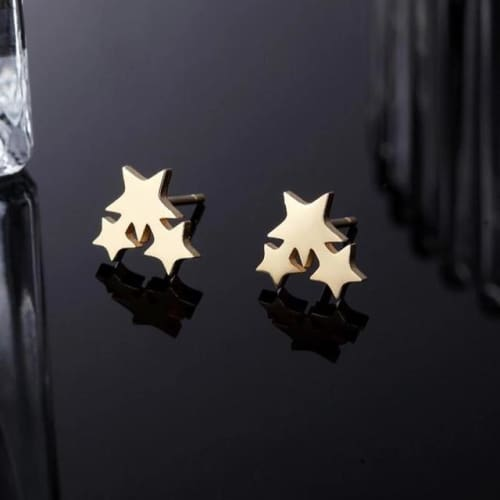 Shooting Stars Gold Plated Studs Earrings Earrings