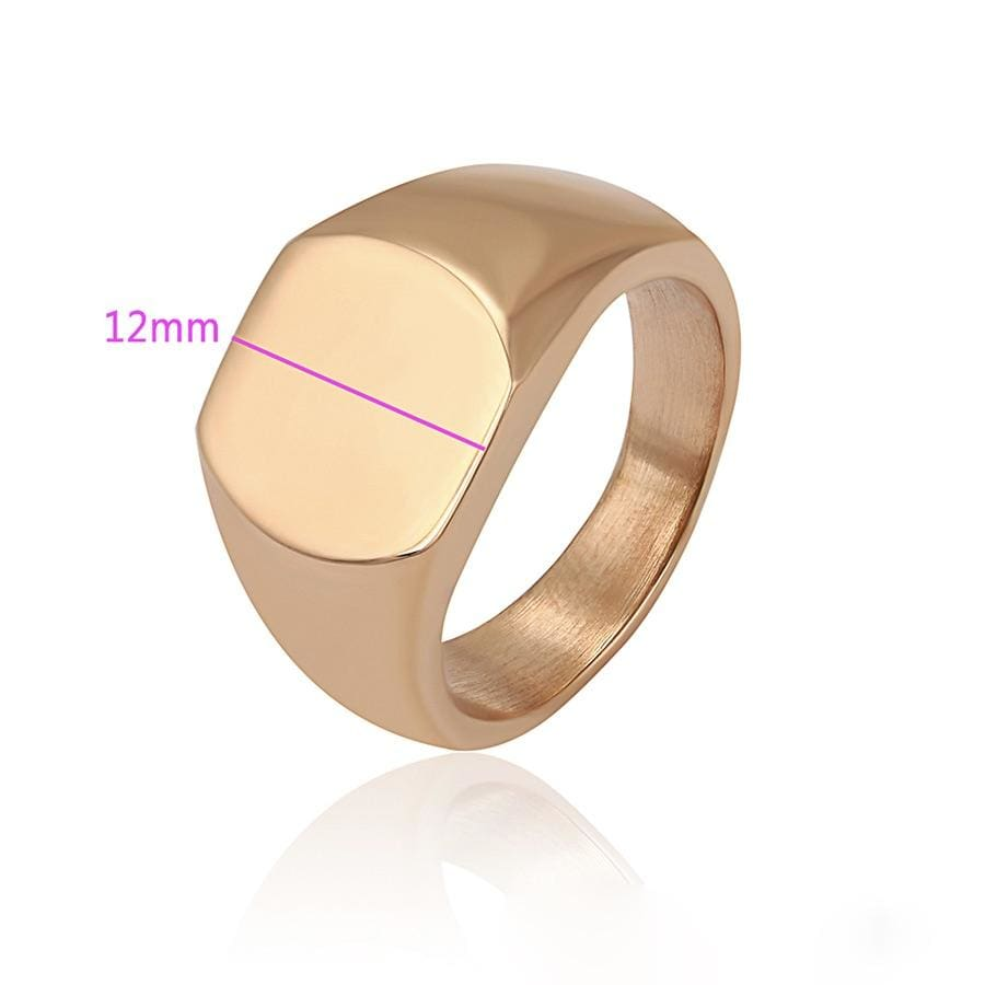 Signet Gold Plated Ring. Rings