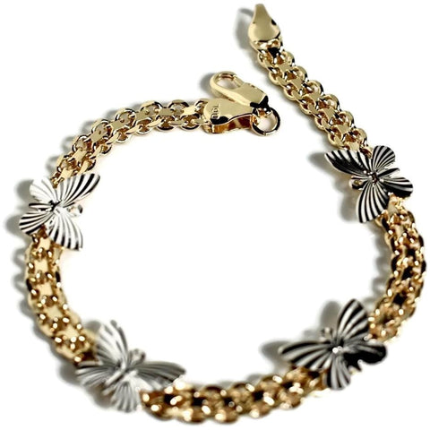 Flower  Cz 18kts of Gold Plated Bolo Bracelet