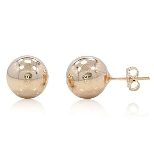 Sphere Studs 18Kts Gold Plated Earrings