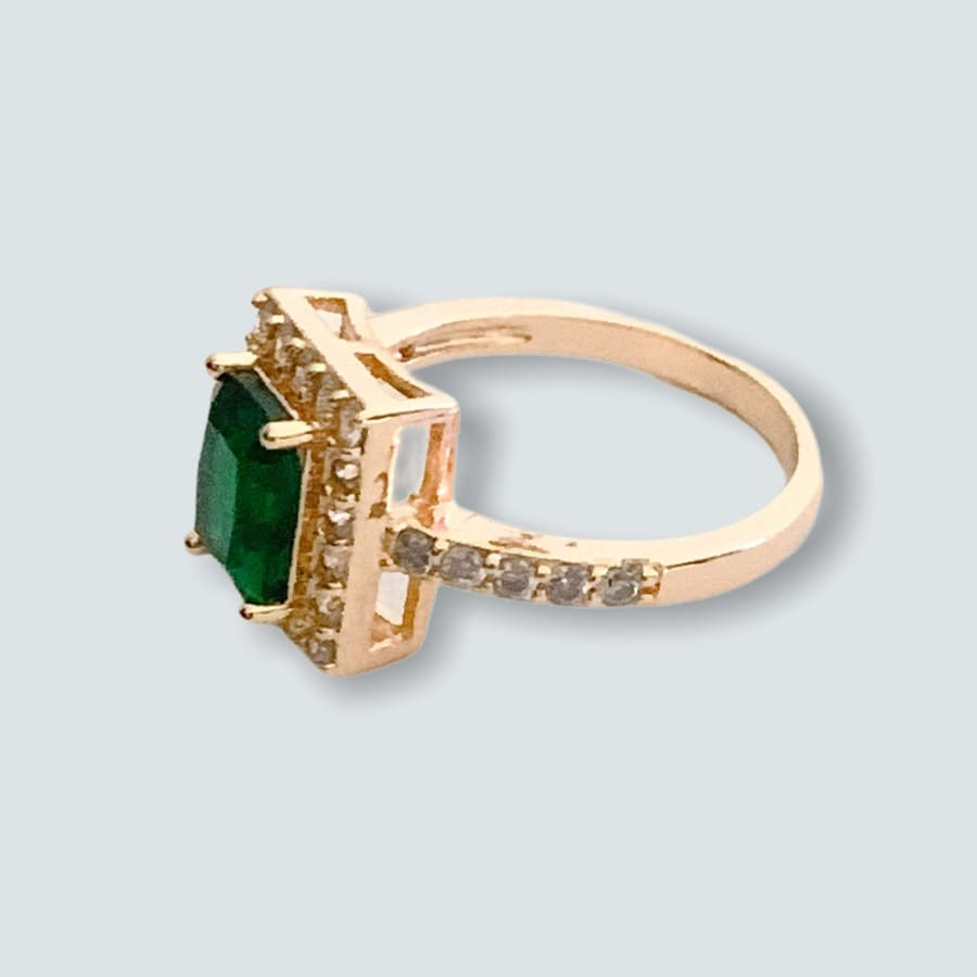 Square Shape Faux Stone Ring in 18k of Gold Plated Rings