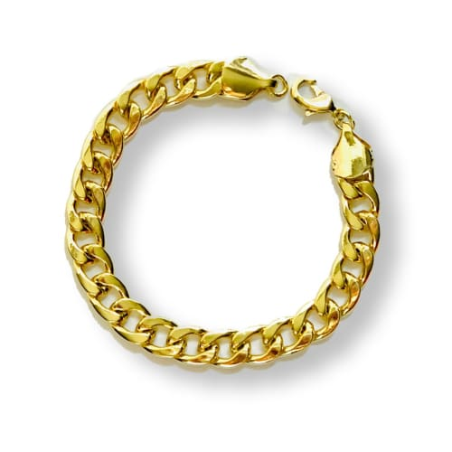 Thick Cuban Links Anklet 10mm 18kts of Gold Plated