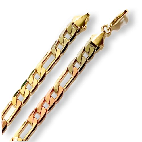 Thick Fígaro Links Anklet 5mm 18kts of Gold Plated