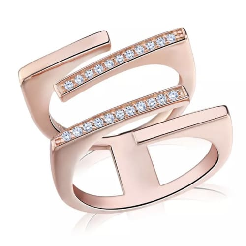 Three Bars Australian Crystals Ring 19.99 / Rose Gold Rings