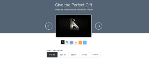 Now you can Buy a Gift Card