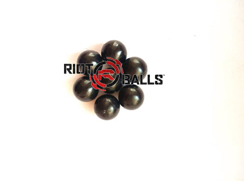 New Heavy 0.43  Cal. 500 Count Black PVC/Nylon Riot Balls Self Defense Less Lethal Target Practice