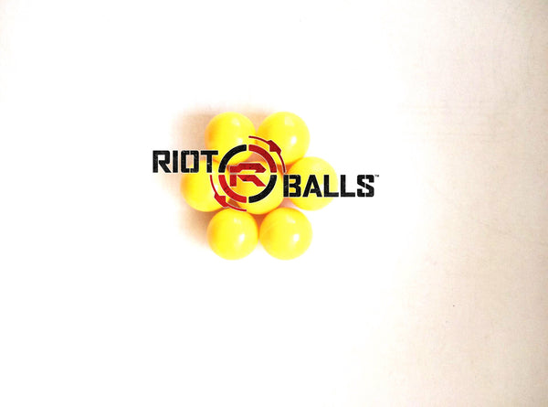 0.43  Cal. 500 Count Yellow PVC/Nylon Riot Balls Self Defense Less Lethal Target Practice