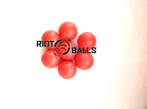 New Heavy 0.43  Cal. 500 Count Red PVC/Nylon Riot Balls Self Defense Less Lethal Target Practice