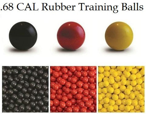 .68 Cal TAC-B TPR Rubber Target Balls Black (box of 500)