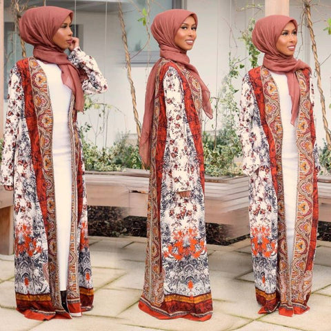 abstract print abaya