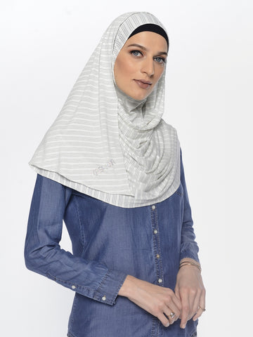 Striped Jersey Instant Hijab